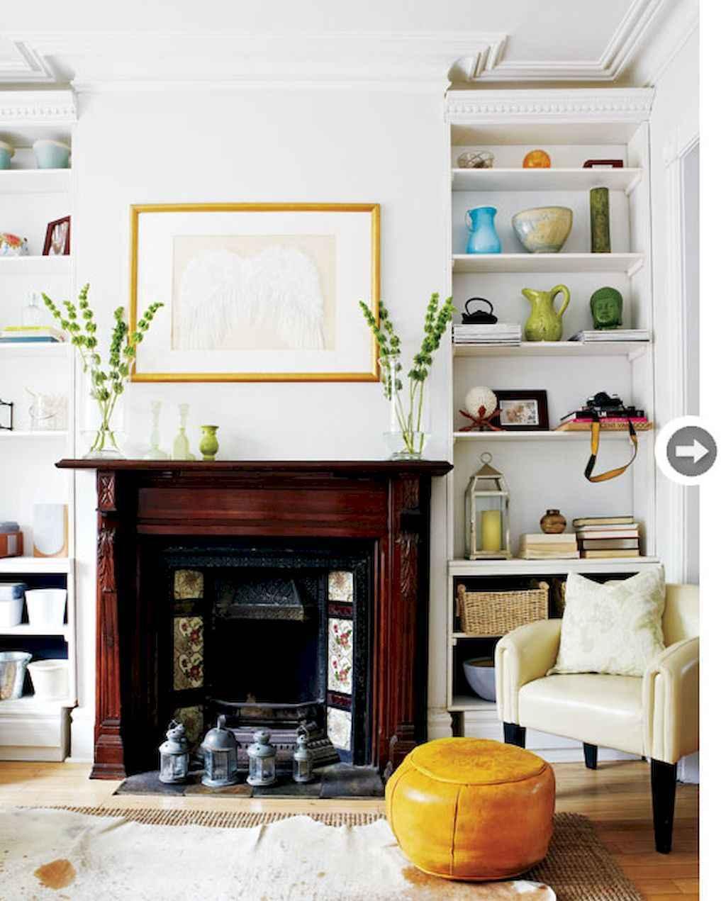 60 beautiful eclectic fireplace decor (43)