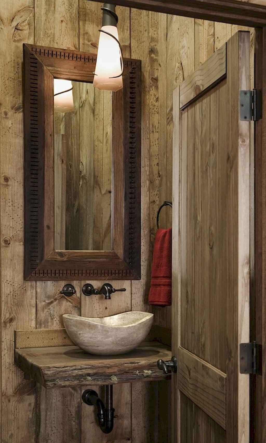 60 Pretty Powder Rooms With Rustic Design 44