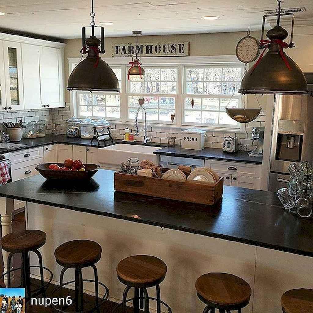 40 stunning farmhouse kitchen ideas on a budget 12 for Farm style kitchen decor
