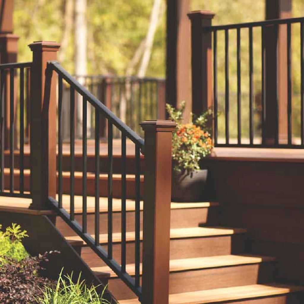 50 deck railing ideas for your home 41 for Garden decking handrails