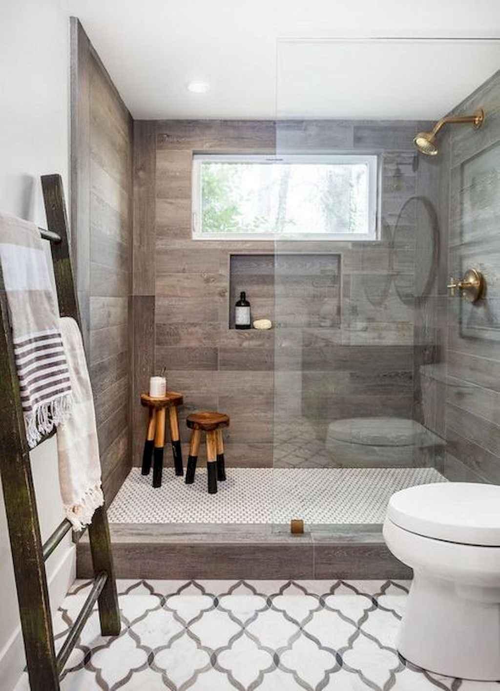 50 rustic farmhouse master bathroom remodel ideas 22 for Master bath remodel 2017