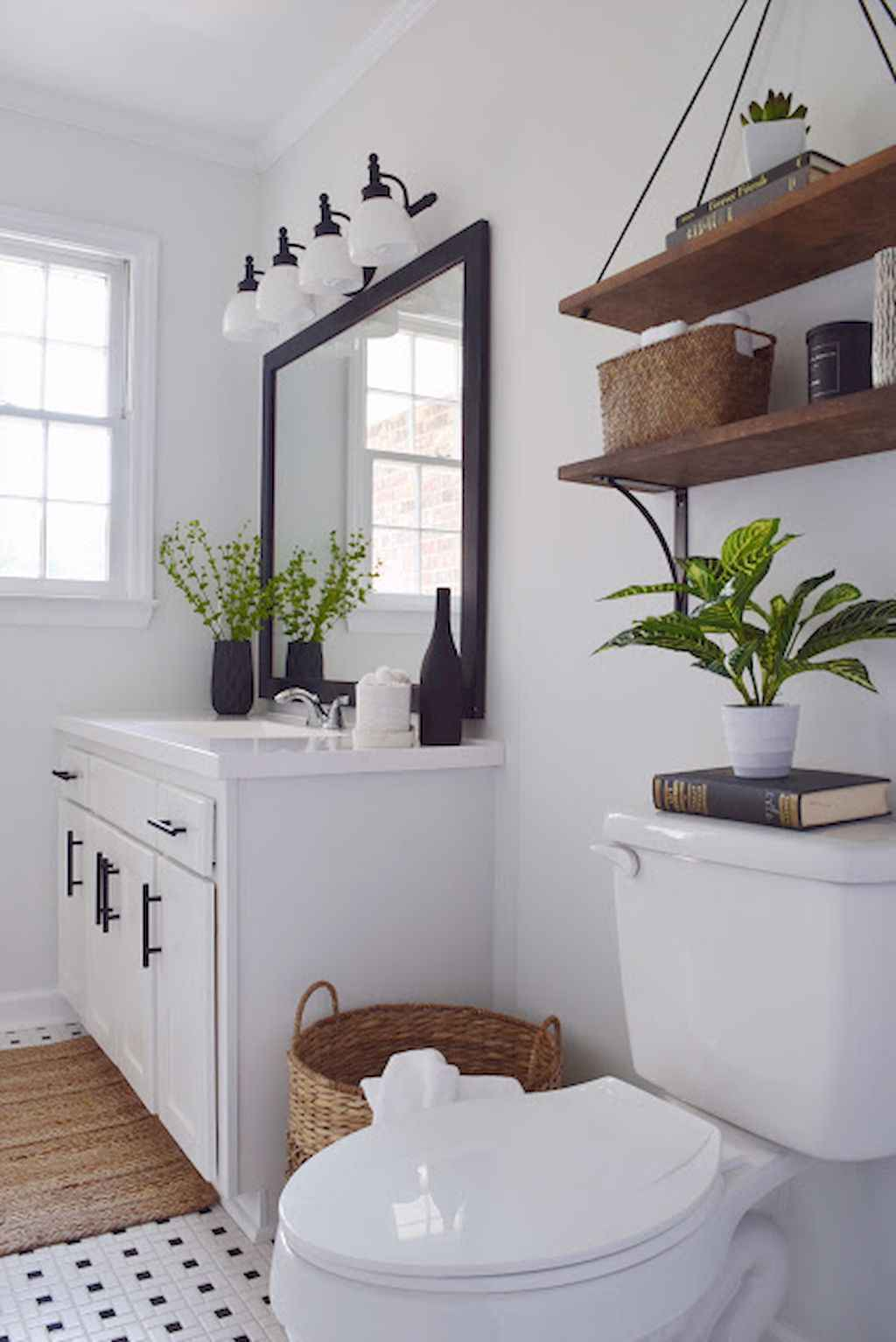 50 Rustic Farmhouse Master Bathroom Remodel Ideas (29) - Roomadness