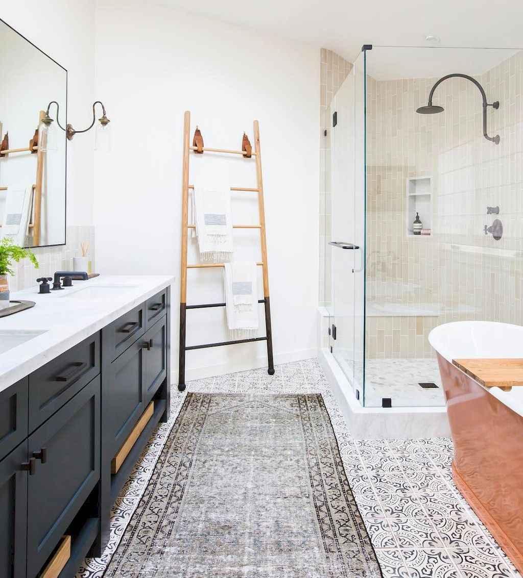 50 rustic farmhouse master bathroom remodel ideas 41 for Modern traditional bathroom ideas