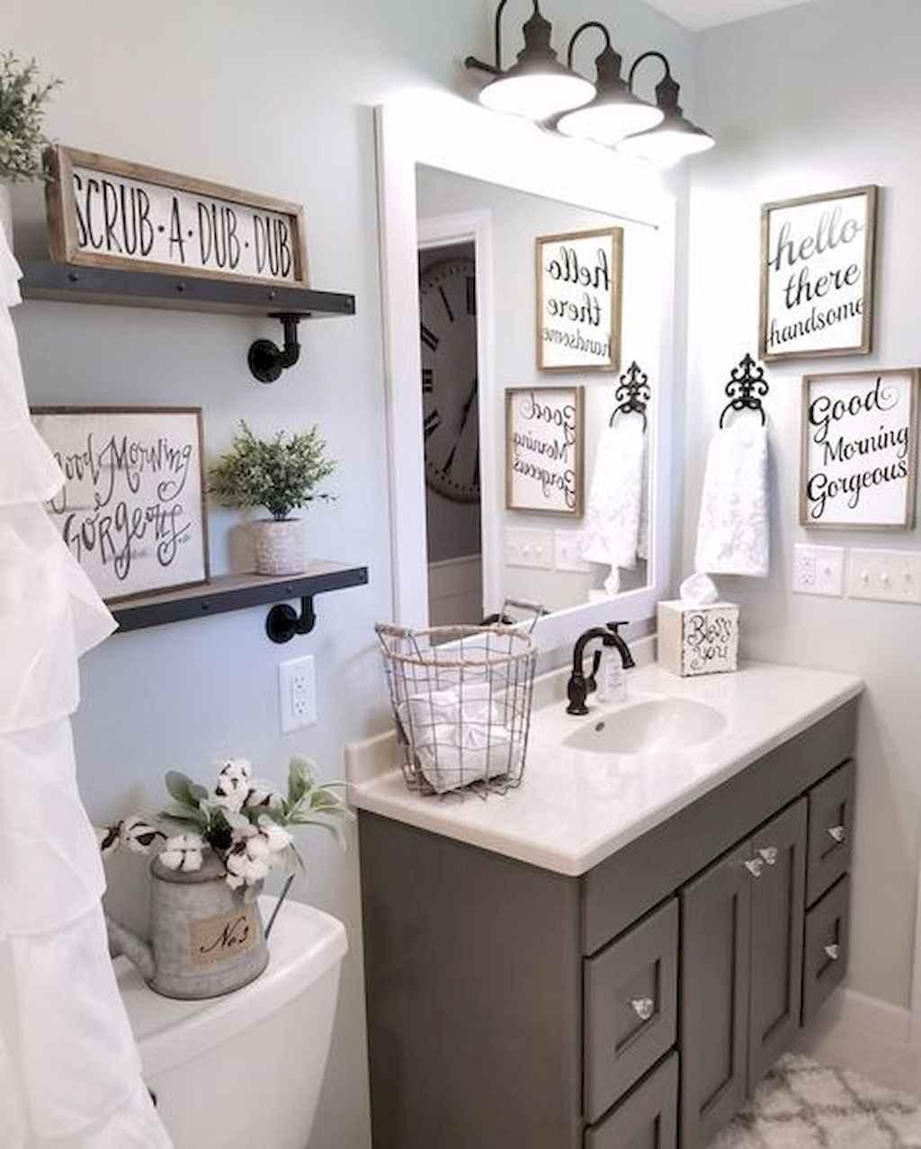 50 Rustic Farmhouse Master Bathroom Remodel Ideas (47) - Roomadness