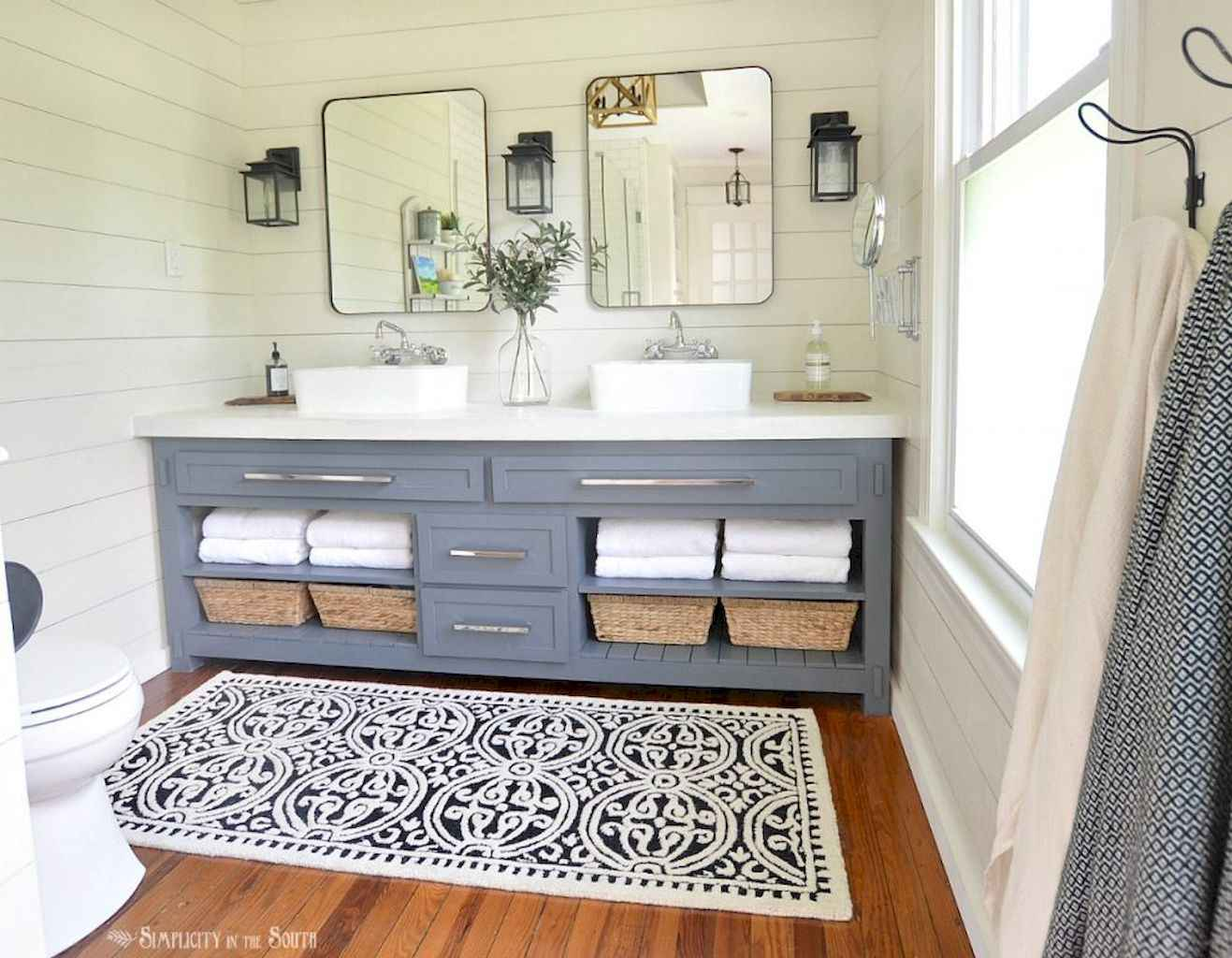 50 rustic farmhouse master bathroom remodel ideas 9 for Rustic farmhouse bathroom ideas