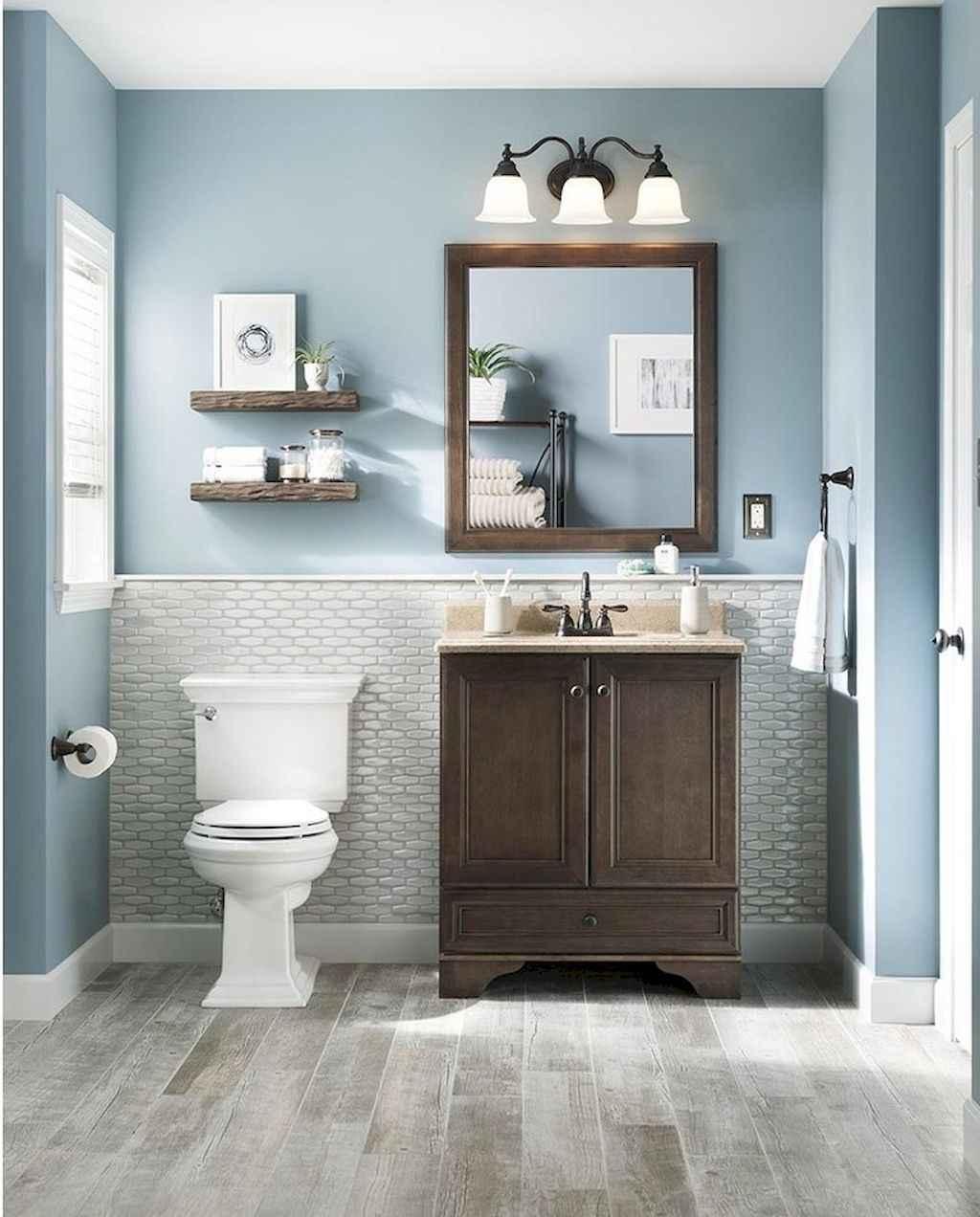 60 inspiring bathroom remodel ideas 59 for Blue and grey bathroom