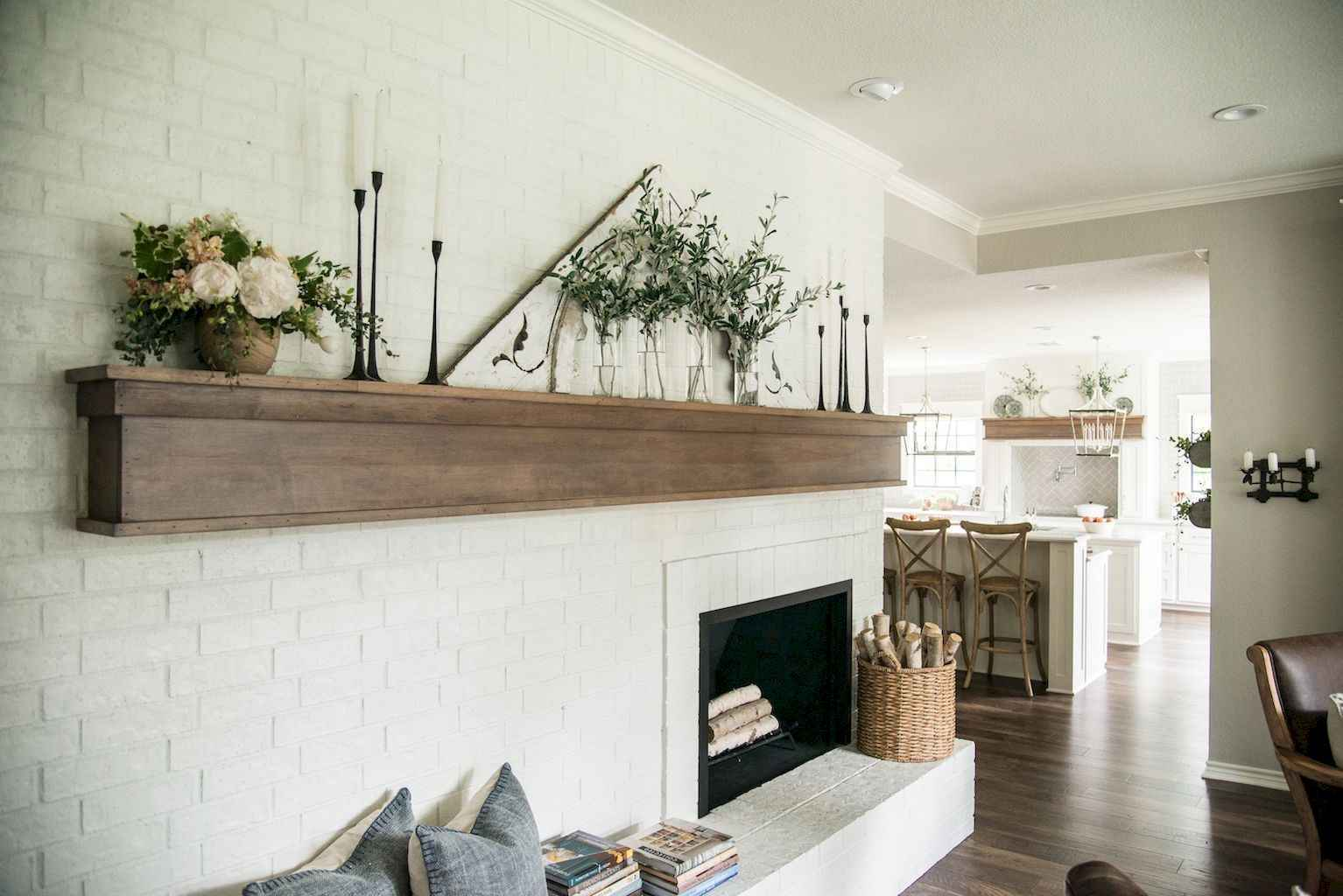 80 incridible rustic farmhouse fireplace ideas makeover (51 ...
