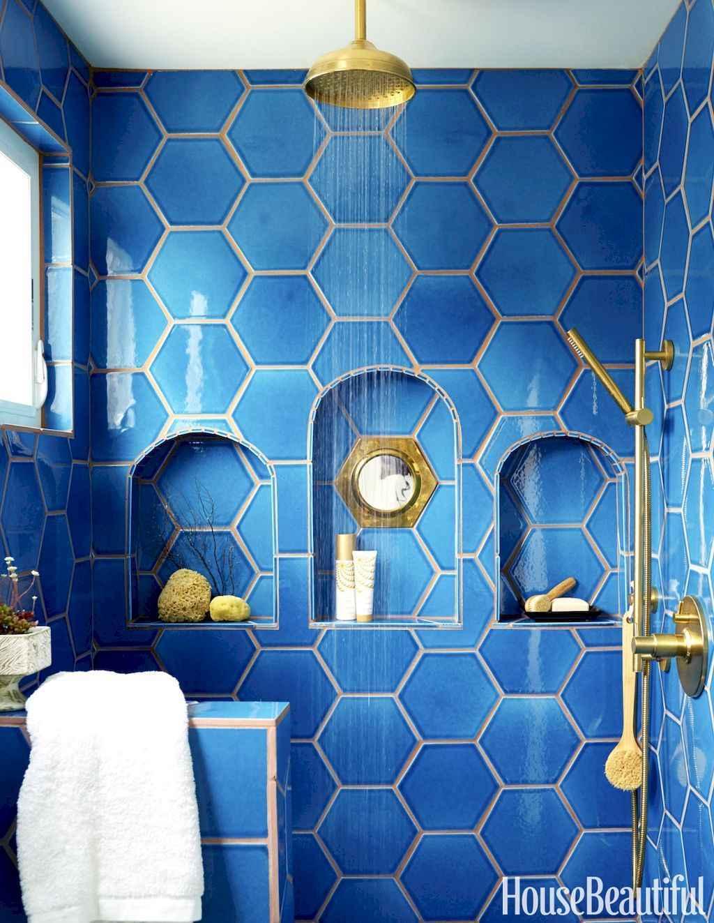 80 stunning tile shower designs ideas for bathroom remodel (13)