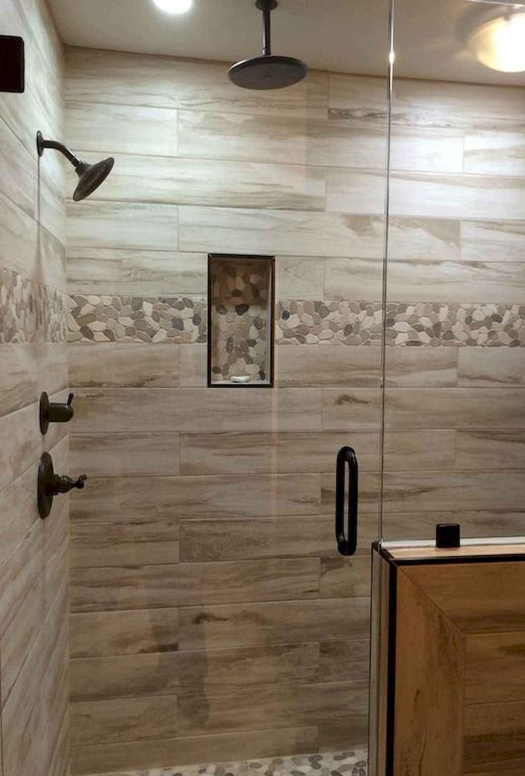 80 stunning tile shower designs ideas for bathroom remodel (30 ...