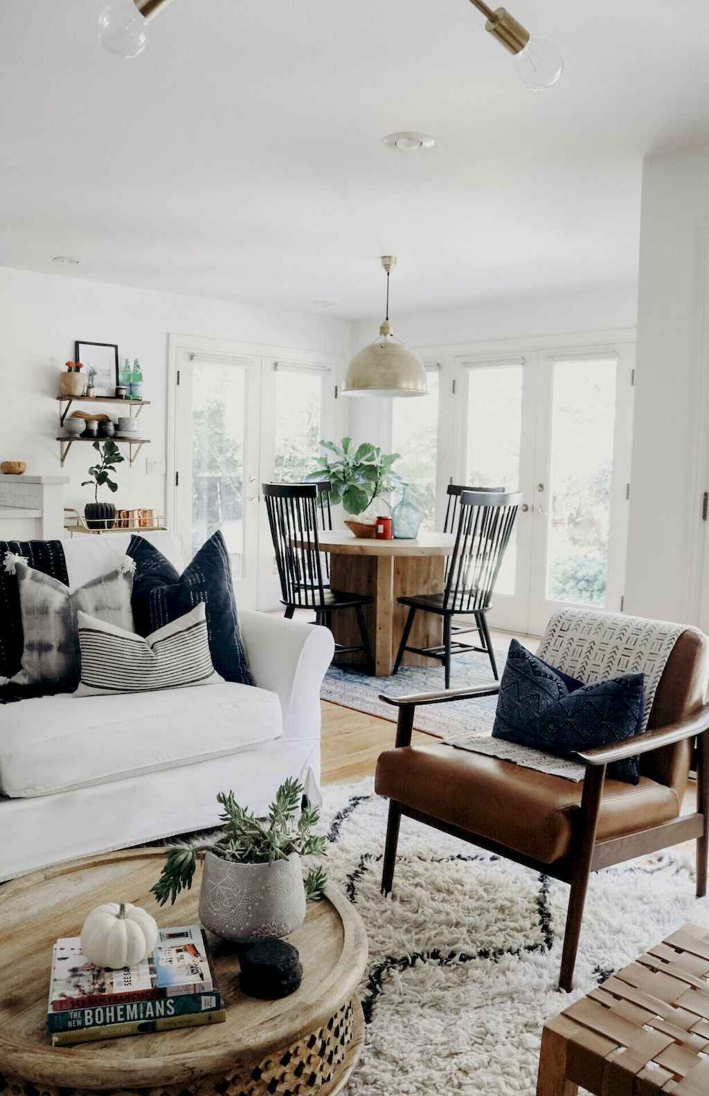 60 cool modern farmhouse living room decor ideas (1) - Roomadness.com