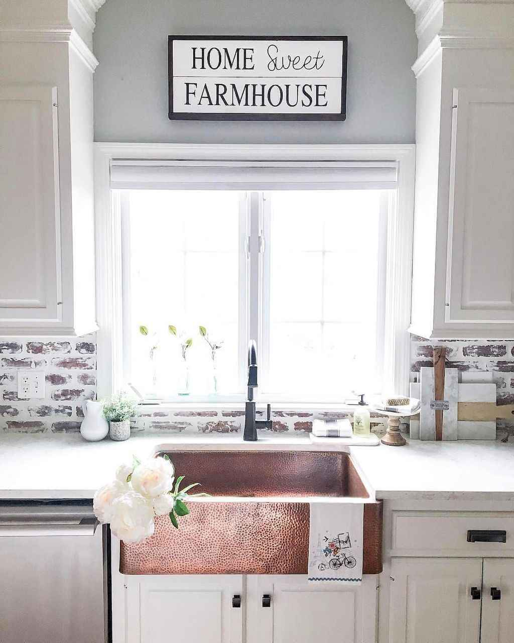 60 fancy farmhouse kitchen backsplash decor ideas 16 for Fancy kitchen decor