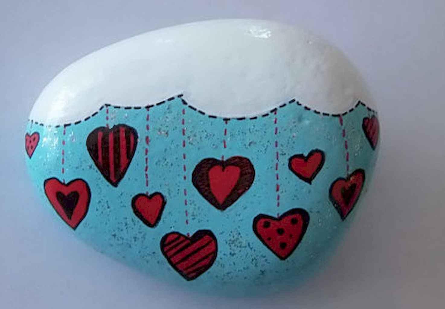 80 Romantic Valentine Painted Rocks Ideas Diy For Girl 9