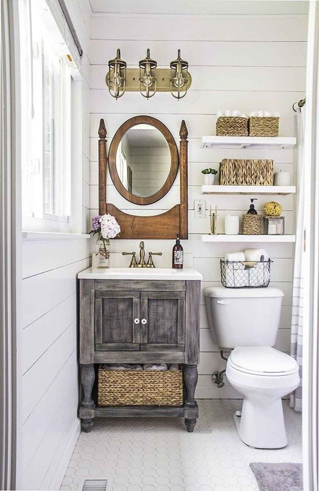 50 best farmhouse bathroom vanity remodel ideas (73) - Roomadness.com