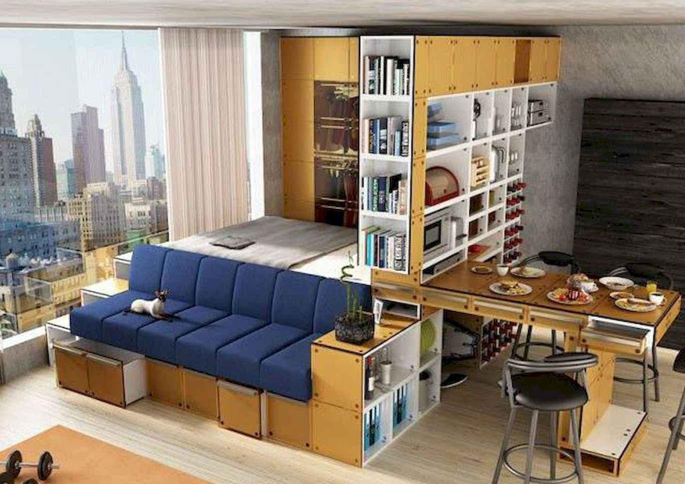 77 amazing small studio apartment decor ideas (48)