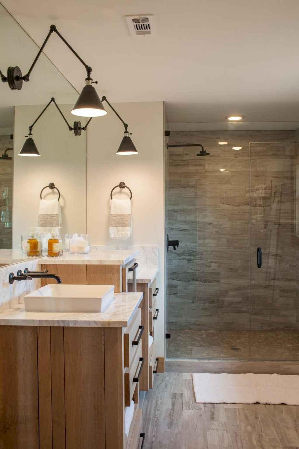 80 best farmhouse tile shower ideas remodel (54)