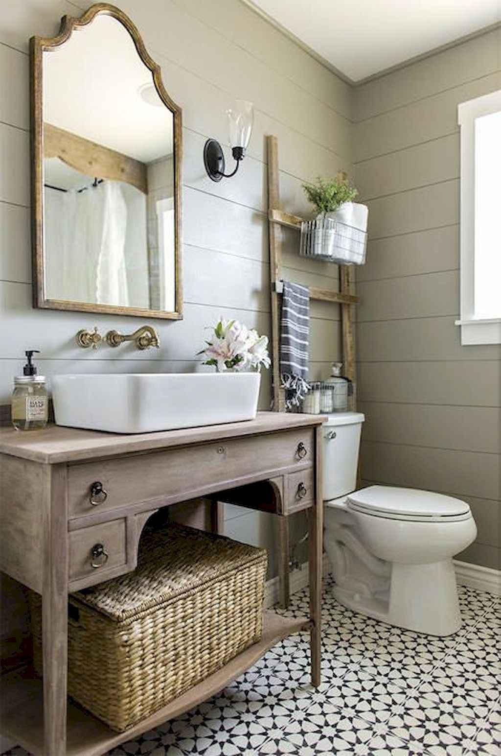 110 Best Farmhouse Bathroom Decor Ideas 32
