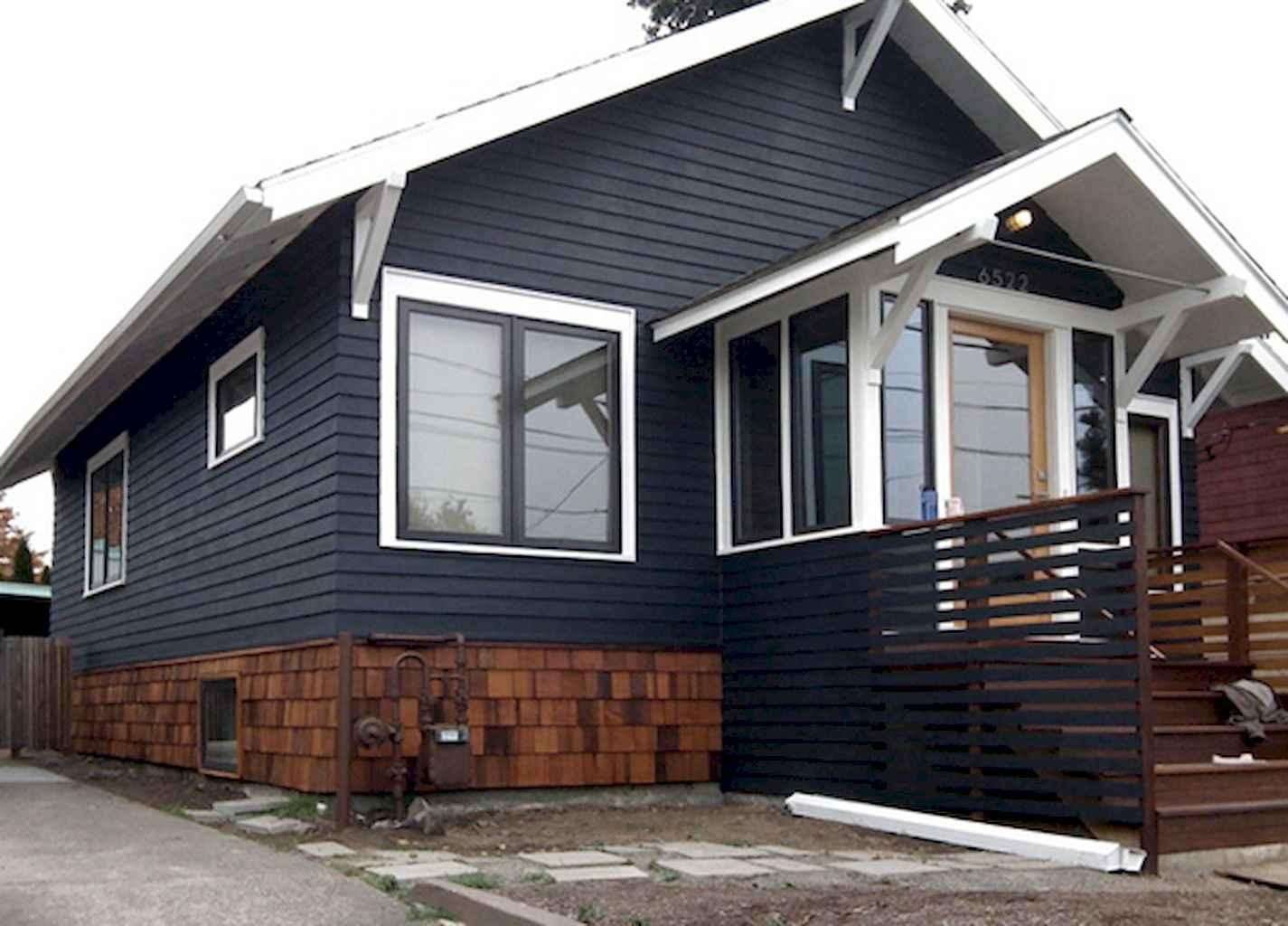 35 handsome black house exterior decor ideas (32)