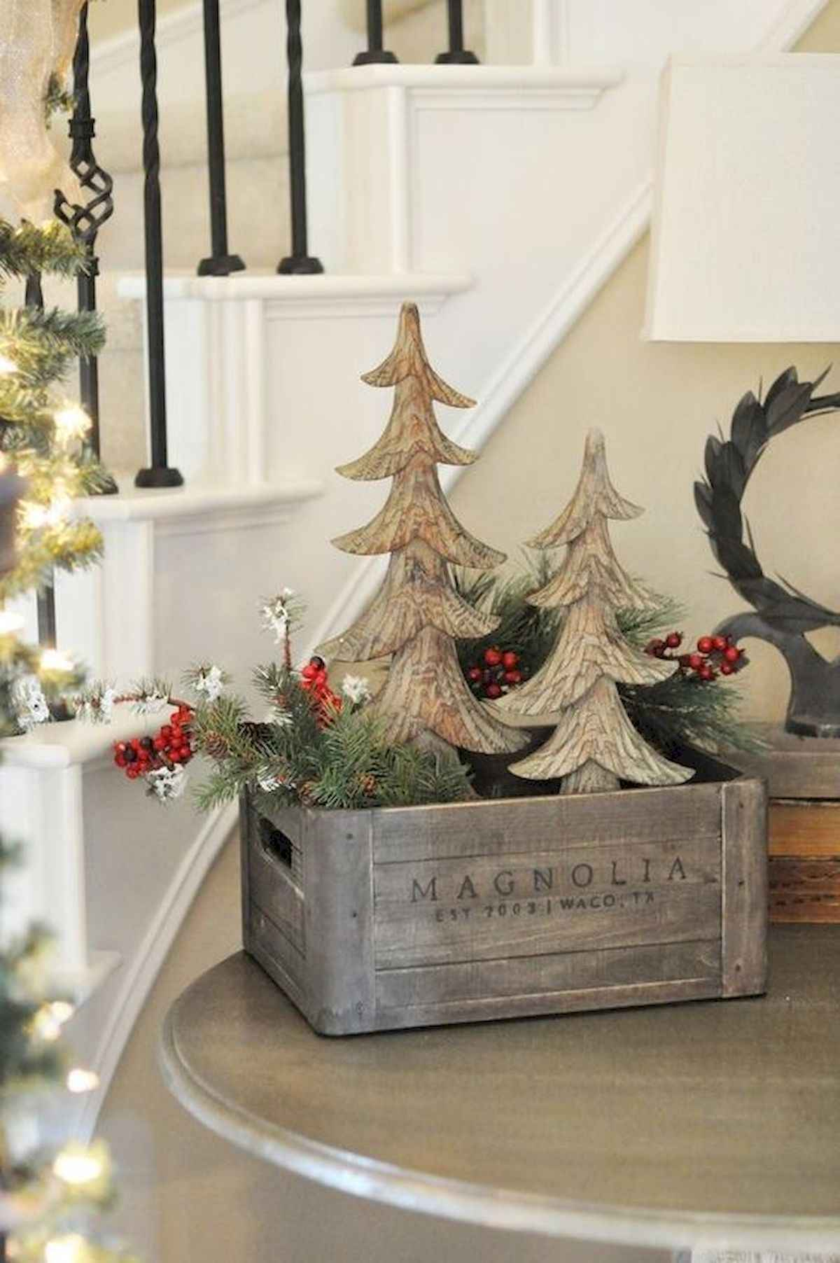 30 Rustic And Vintage Christmas Tree Ideas Decorations 2