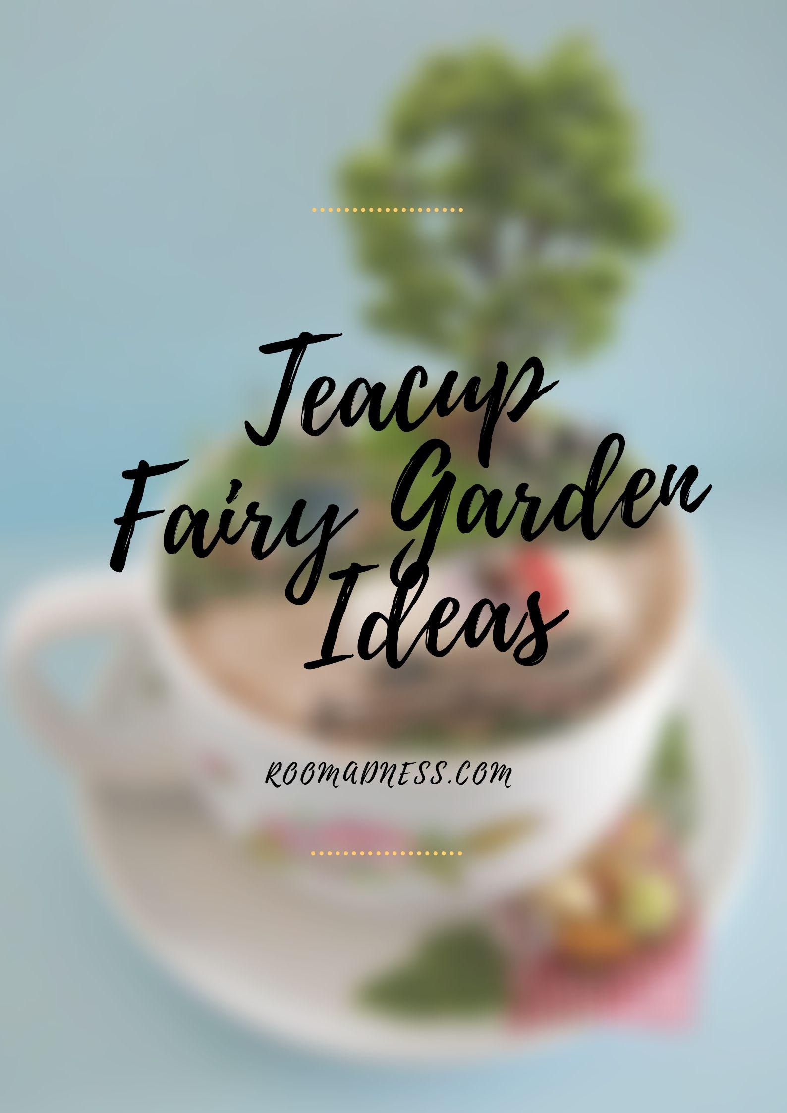 Teacup fairy garden ideas